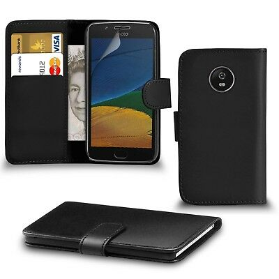 Luxury Real Genuine Leather Case for Motorola Moto Flip Wallet Cover Stand