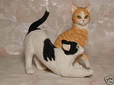 Katzenfigur BLACKWHITE & GINGER CAT Country Artists Katze #CA01368 Tierfigur Cat