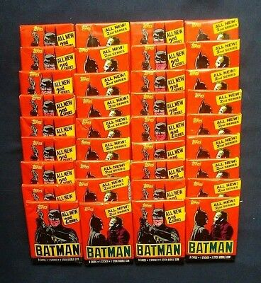 1989 Topps Batman 2nd Series Trading Cards ~ 36 Unopened Wax Pack Lot