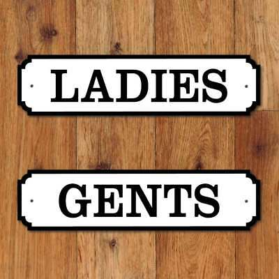 TOILET  Door Nameplate, Vintage Design, LADIES & GENTS SIGN Loo Plaques set of 2
