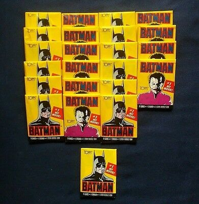 1989 Topps Batman Trading Cards ~ 23 Unopened Wax Pack Lot