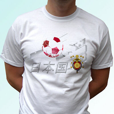 Japan football flag white t shirt design soccer tag world cup top tee all sizes