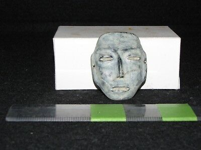 Pre Columbian,Teotihuacan, Jadeite Mask, L. Form. Early Classic 200 600 A.D.