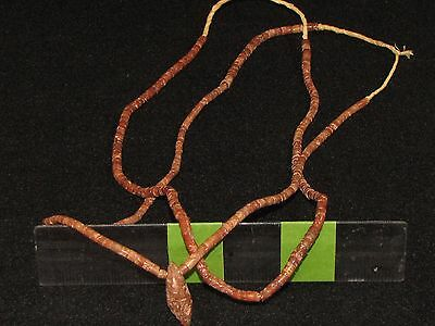 Two Vintage African Pipestone (Bauxite) Trade Bead Necklaces with Pendant