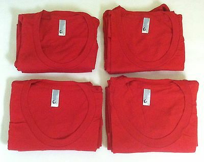 Wholesale Lot of 8 American Apparel Women's BB301 Poly Cotton 50/50 T-shirts-Red