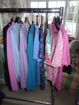 job lot of 10 ladies tops/jumpers mixed brands size 10/12
