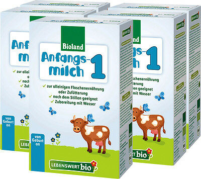 5 Boxes Bulk- Holle LEBENSWERT Organic Baby Formula Stage 1 Anfangsmilch