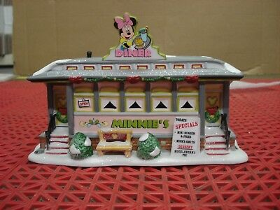 Department 56 Disney Village Minnie's Diner Lighted House
