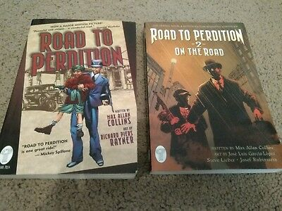 Road to Perdition book 1 and 2 on the road Max allan collins graphic novel