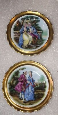 Set Of 2 Vintage Royal Grafton Fine Bone China England Colonial Couple Dish ~4""