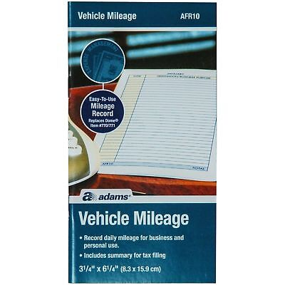 Adams AFR10 Vehicle Mileage Log Book With Parts & Service Section Free Shipping