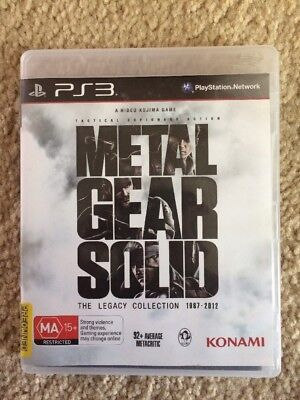 Metal Gear Solid: The Legacy Collection (Sony PlayStation 3, 2013)