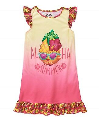 Girls Shopkins Nightgown Pajama Dress New with Tags Size 7/8 Spring/Summer Kids
