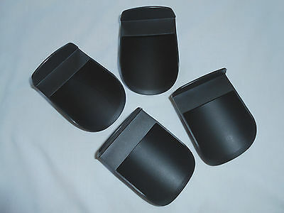 Tupperware set of 4 black rocker scoops flour sugar staples rounded bendable