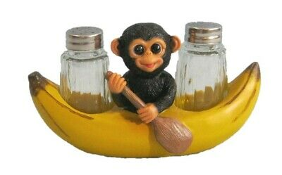 Spice A? Peel Monkey Salt and Pepper Holder Figurine
