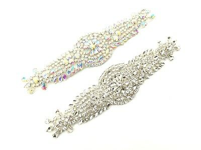 Stunning Bridal Diamante Belt Crystal Rhinestone Wedding Dress Sash Belt