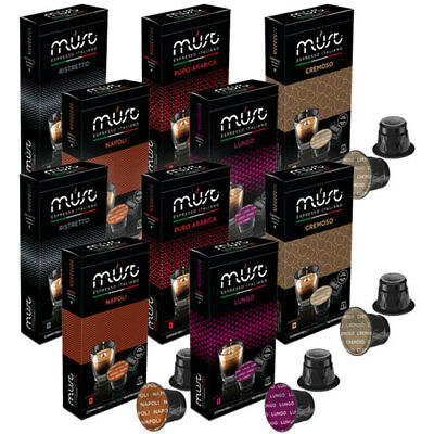 Nespresso Compatible Coffee Capsules Pods 10 Packs 100 Capsules