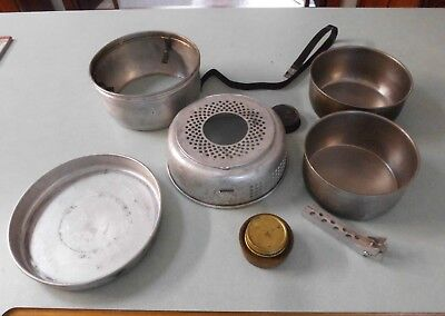 Genuine Trangia camping metho stove kit - includes 2 pots and frypan.