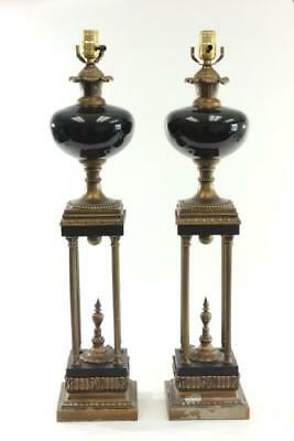Pair of Antique Style Columnar lamps