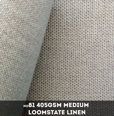 NEW Belle Arti #81 - Medium 405gsm Loomstate Linen - 220cm x 10m