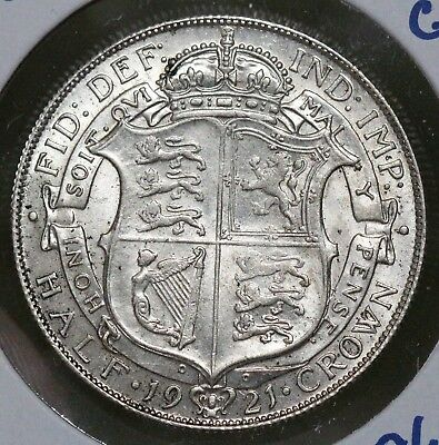 1921 Great Britain 1/2 Half Crown CHOICE BU ONLY 4 GRADED MS BY PCGS RARE!!!!!!!