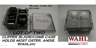SET of 2 Clipper BLADE&ATTACHMENT/Guide COMB STORAGE CASE*For Oster,Wahl,Andis