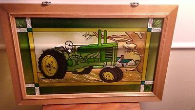 John Deere licensed stained glass picture
