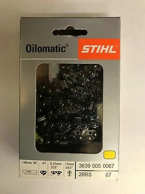 NEW STIHL CHAINSAW CHAIN SAW 16 in. 26RS 67 .325 .63 67 16 INCH BLADE AGGRESSIVE