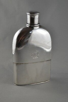 York Provincial - Victorian 1841 English Sterling Silver Hip Flask - No Reserve