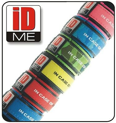 4 x Kids Safety ID Wristbands Medical Alert Bracelet Allergy+Contact