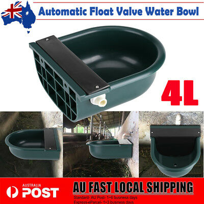 Automatic Float Valve Water Trough Bowl Stock Drinking 4L Horse Cow Sheep Dog AU