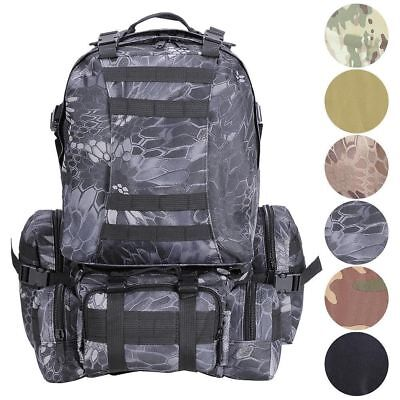 55L Molle Outdoor Military Tactical Bag Camping Hiking Trekking Backpack US