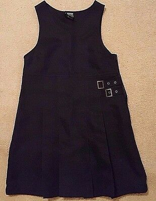 French Toast Girl's Size 6X Navy Blue Double Buckle Uniform Jumper Dress
