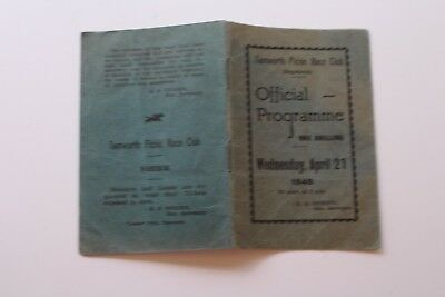 TAMWORTH PICNIC RACE CLUB OFFICIAL PROGRAMME April 21 1948 HORSE RACING
