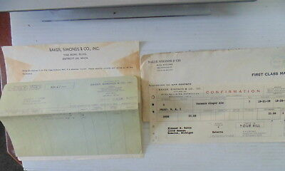 1959 Vernor's Ginger Ale Stock Purchase Receipt Paperwork