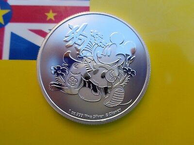2018 Niue Disney's Micky Mouse Year of the Dog coins .999 fine silver