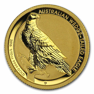 2016 Australia 1/10 oz Gold Wedge Tailed Eagle in Capsule .9999 fine