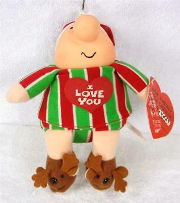 ZIGGY Xmas Doll Wearing I LOVE YOU SHIRT and REINDEER SLIPPERS
