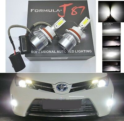 LED Kit C6 72W 9004 HB1 6000K White Two Bulbs Head Light Dual High Low Beam Lamp