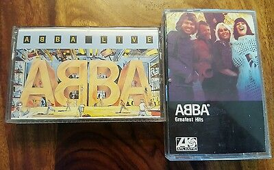 2 abba cassette - Live (1986) and Greatest hits