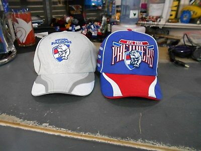Western Bulldogs 2016 AFL Premiership Caps Grey and Red, white and Blue