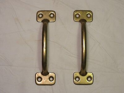 "Antique matching set of 2 solid Brass door Cabinet Drawer Pulls 4 5/8 "" Inch"
