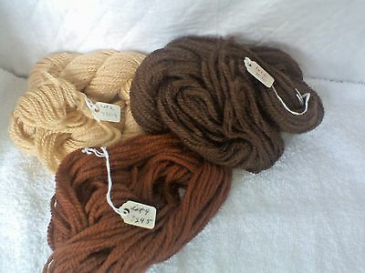 Yarn Wool, 3 Lengths 4', Autumn Colors. Think They Are For Crewl Or Nedlepoint