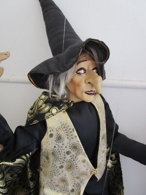 Collectable Vintage Handcrafted Witch Marionette