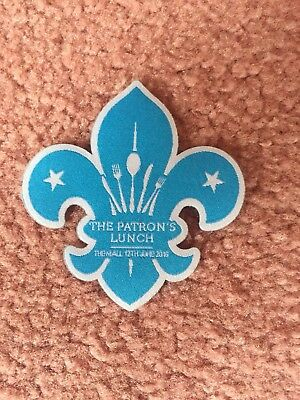 Queens birthday Patrons Lunch - Scouts Badge