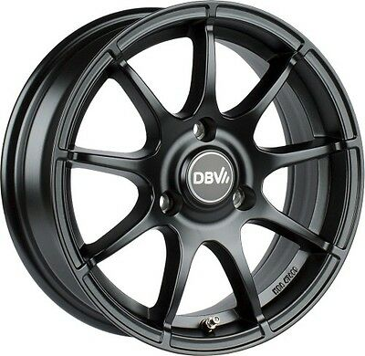 Smart Fortwo 451 Alloy Wheels 15´ ´ Inch DBV bali. Black Matte Black NEW