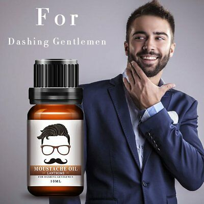 10ml Natural Beard Mustache Nourishment Oil Nursing Moisturizing Conditioner FZ
