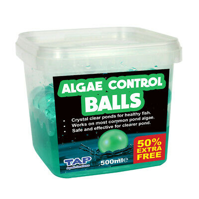 Tap Pond Green Algae Control Balls 500Ml + 50% Extra Fill Water Treatment Koi Fi