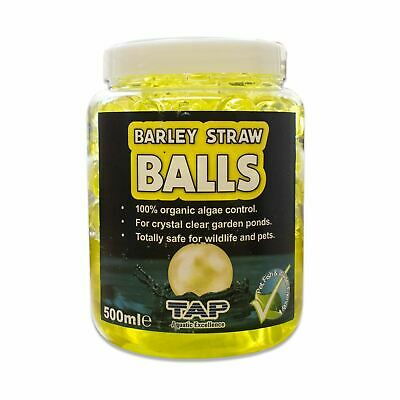Tap Pond Barley Straw Balls 500Ml + 50% Extra Fill Water Treatment Koi Fish Safe