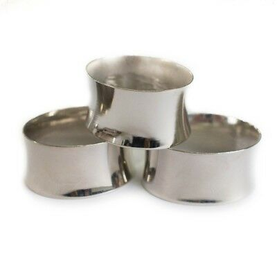 Stainless Steel Silver Napkin Rings (Set of 6)